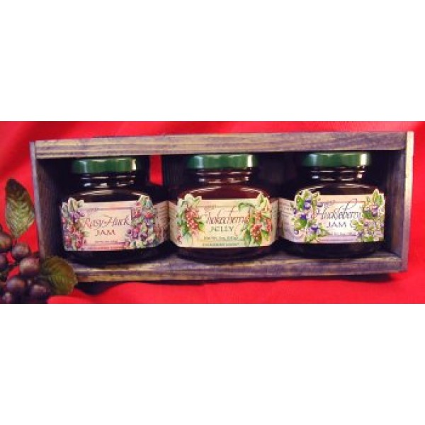 Jam & Jelly 3 different 5oz Jar Handcrafted Gift Crate, this Set...