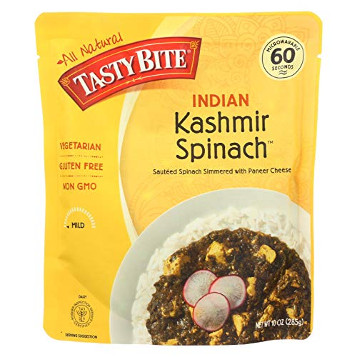 Tasty Bite Entrees - Indian Cuisine - Kashmir Spinach - 10 oz - ...
