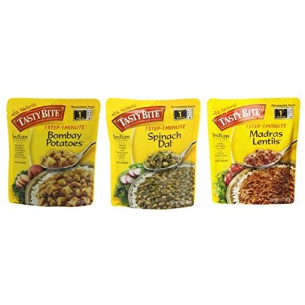 Tasty Bite Heat & Eat Indian Cuisine Side Dish 3 Flavor Variety ...