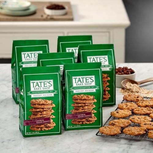 Tates Bake Shop 6 Pack Oatmeal Raisin Cookies