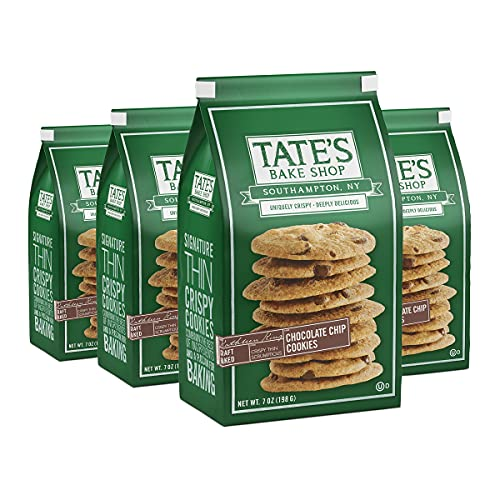 Tates Bake Shop Thin & Crispy Cookies, Chocolate Chip, 7 Oz, 4C...