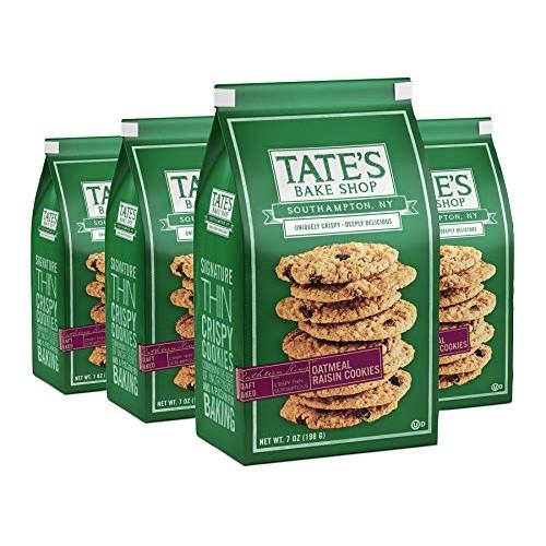 Tates Bake Shop Thin & Crispy Cookies, Oatmeal Raisin, 7 Oz, 4C...