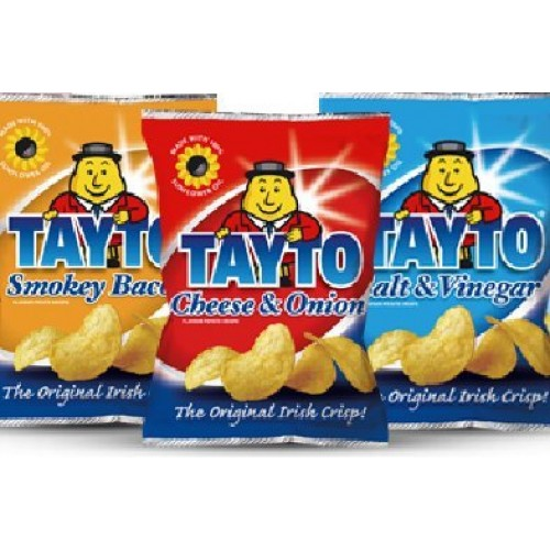 Tayto Variety 12 pack Crisps from Ireland 12 x 25g