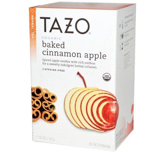 Tazo Organic Baked Cinnamon Apple Herbal Tea 20 Bags Pack Of 6...