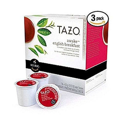Tazo Awake English Breakfast Tea Keurig K-cups, 16 Count [Pack o...