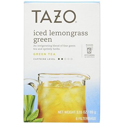 Tazo Iced Lemongrass Green Tea 6 Bags Case of 4 3.15oz each
