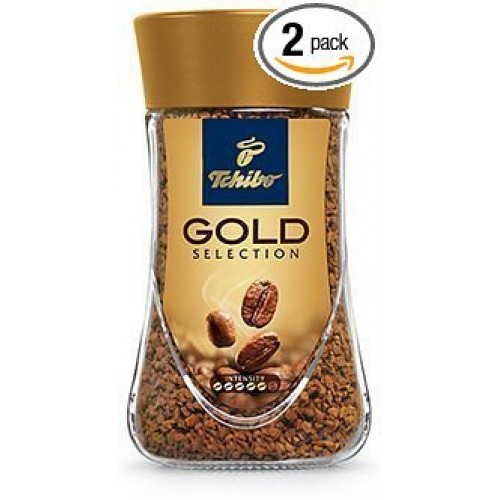 2 Jars of Tchibo Gold Selection Instant Coffee 7oz/200g