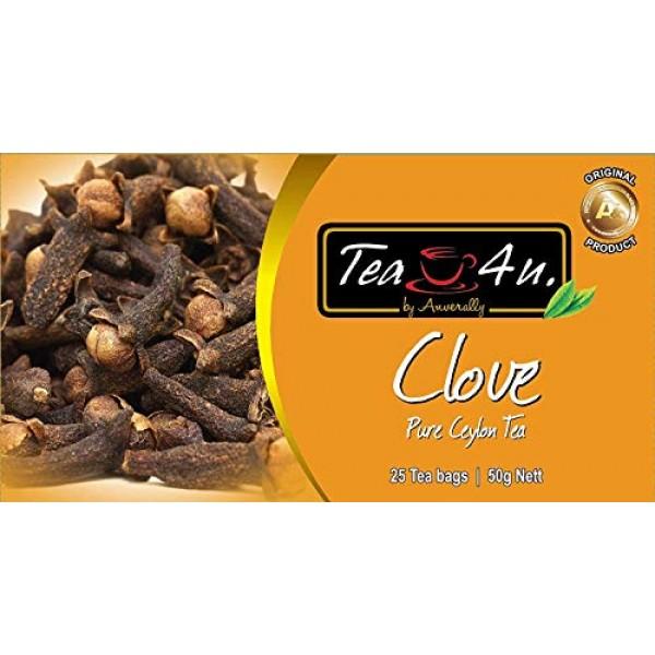 Tea4U Clove Black Tea Bags - Original Ceylon Tea