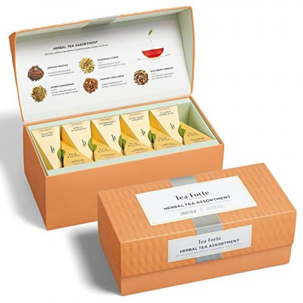 Tea Forte Classic Herbal Tea Presentation Box Tea Sampler Gift S...