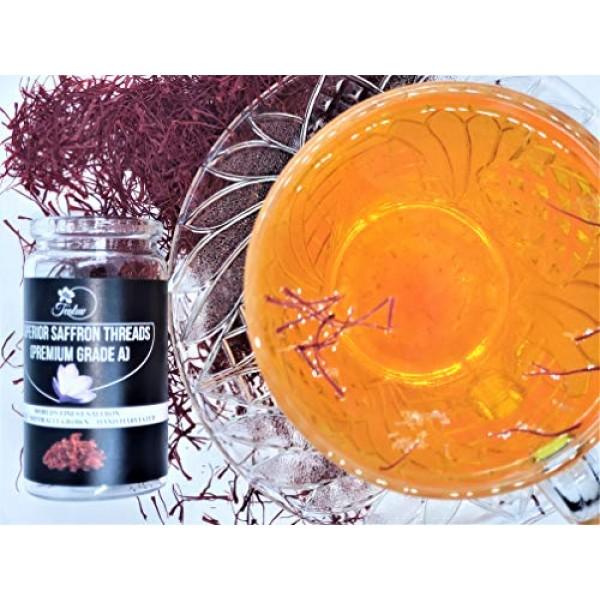 7-Grams - TEALUV Saffron Threads Finest Pure Premium All Red Saf...