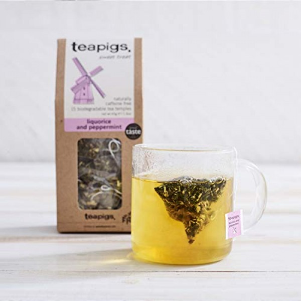 Teapigs Liquorice and Peppermint Tea Bags Made With Whole Leaves...