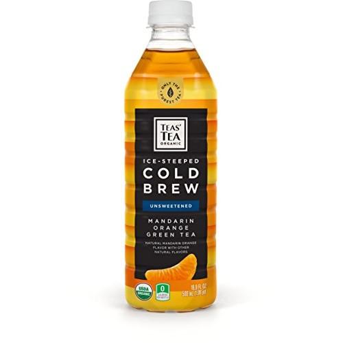 Teas Tea Organic Cold Brew Green Tea Mandarin Orange 16.9 Ounce...
