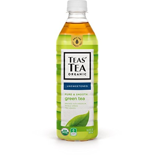 Teas Tea Unsweetened Pure Green Tea 16.9 Ounce Pack of 12 Org...