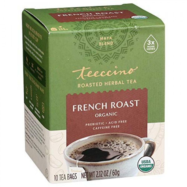 Teeccino Herbal Tea – French Roast – Roasted Herbal Tea | Organi...