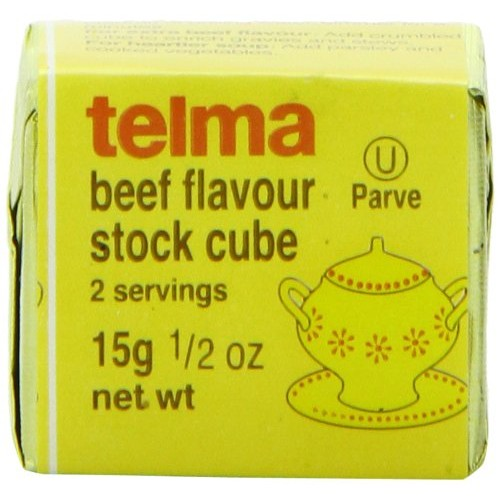 Telma Stock Cubes, Beef Flavor, 3 Count Pack of 12