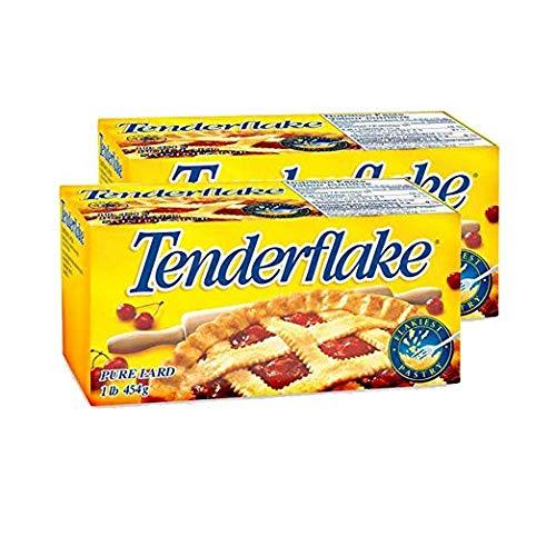 Canadian Tenderflake Pure Bakers Lard 2-Pack - 1 Pound 454 Grams