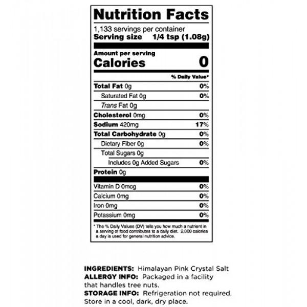 Terrasoul Superfoods Himalayan Pink Salt, 2.5 Lbs - Extra Fine |...