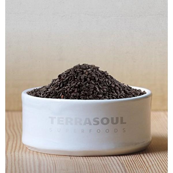 Terrasoul Superfoods Organic Black Sesame Seeds, 2 Lbs - Raw   U...