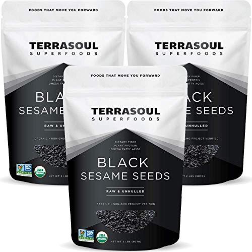 Terrasoul Superfoods Organic Black Sesame Seeds, 6 Lbs 3 Pack ...