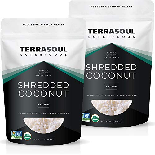 Terrasoul Superfoods Organic Coconut Flakes, 2 Lbs 2 Pack - Me...