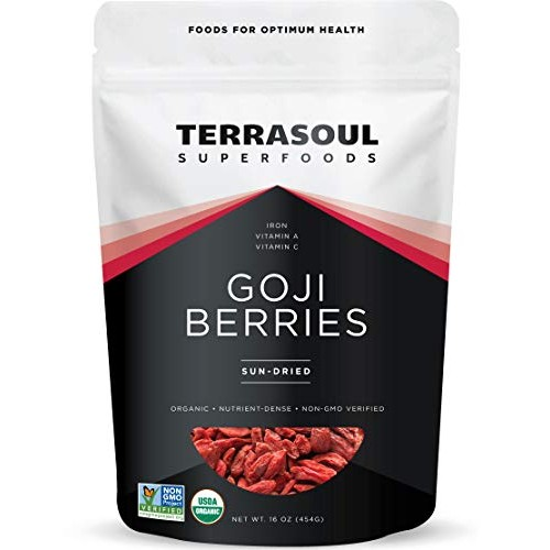 Terrasoul Superfoods Organic Goji Berries, 16 Oz - Large Size | ...