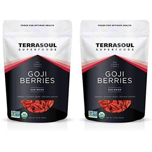 Terrasoul Superfoods Organic Goji Berries, 2 Lbs (2 pack) - Larg...