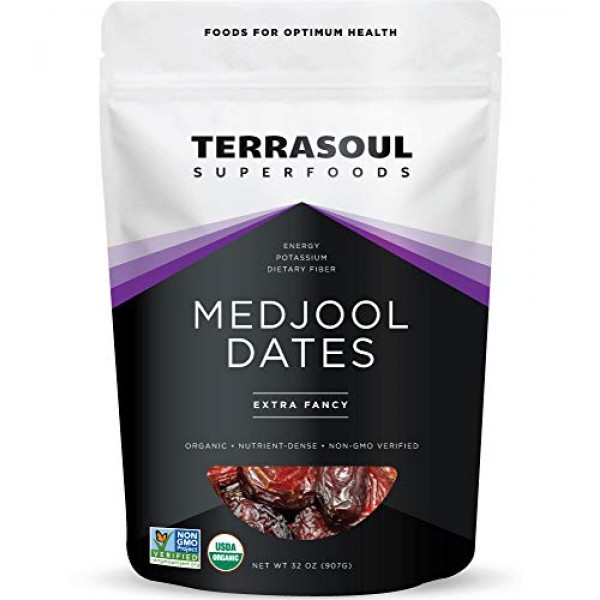 Terrasoul Superfoods Organic Medjool Dates, 2 Lbs - Soft Chewy T...
