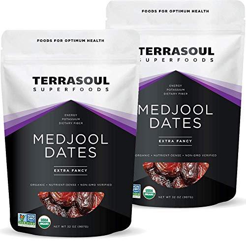 Terrasoul Superfoods Organic Medjool Dates, 4 Lbs - Soft Chewy T...