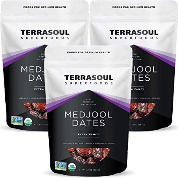 Terrasoul Superfoods Organic Medjool Dates, 6 Lbs - Soft Chewy T...