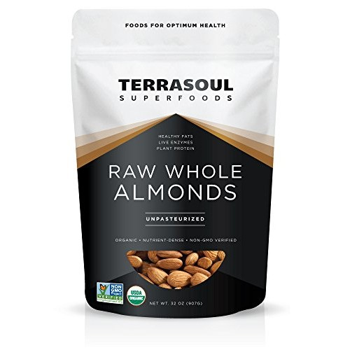 Terrasoul Superfoods Raw Unpasteurized Organic Almonds Sproutab...