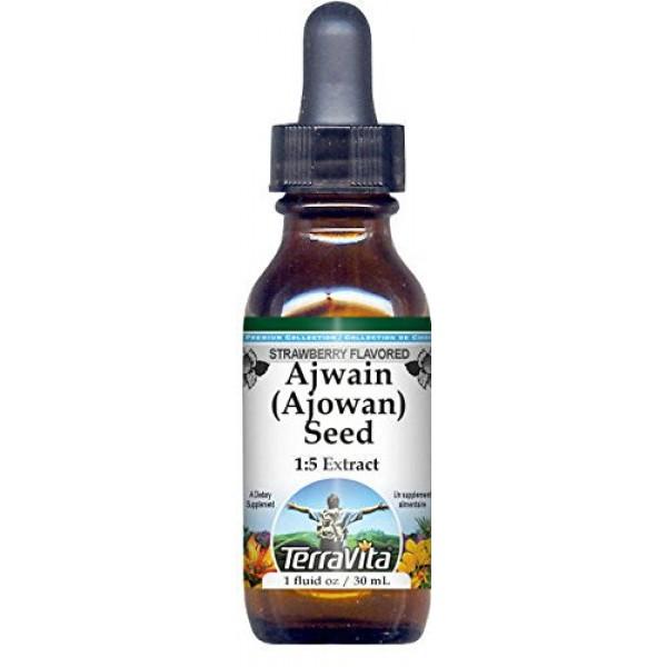 Ajwain Ajowan Seed Glycerite Liquid Extract 1:5 - Strawberry...