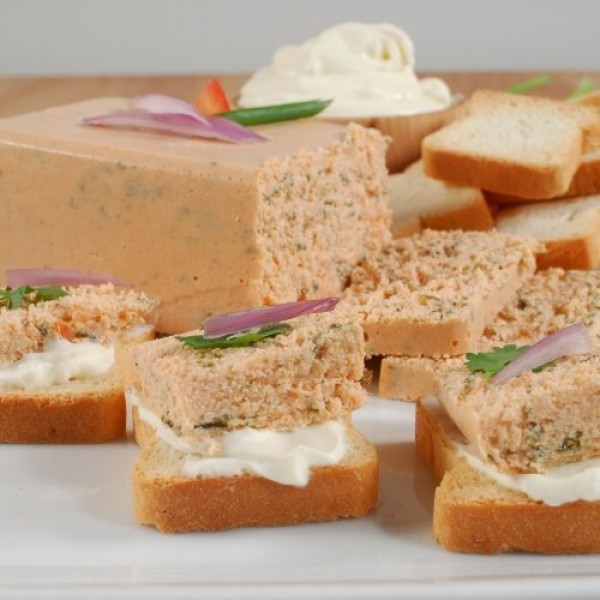 Smoked Salmon And Spinach Mousse Pate - All Natural - 1 x 7.0 oz...