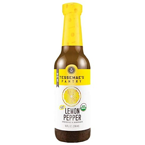 Tessemaes, Salad Dressing Lemon Pepper Organic, 10 Fl Oz