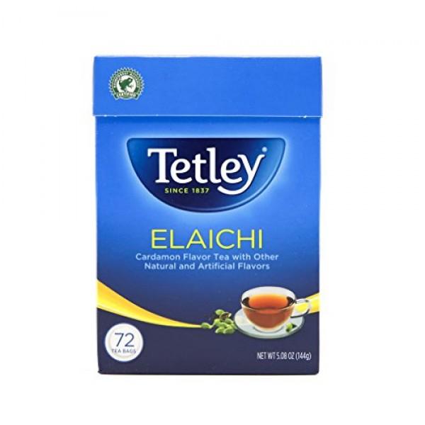 Tetley Tea, Elaichi Cardamom, 72-Count Tea Bags Pack of 3