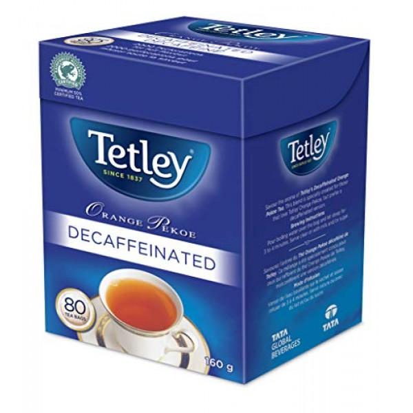Tetley Orange Pekoe Decaffeinated Tea 80 Decaf Tea Bags 160g {Im...
