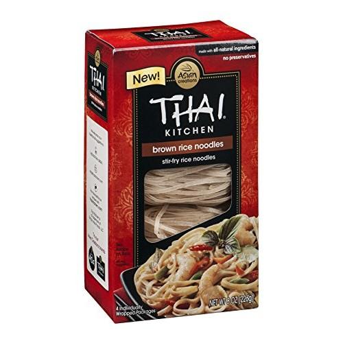 Thai Kitchen Gluten Free Brown Rice Noodles, 8 oz Pack of 6