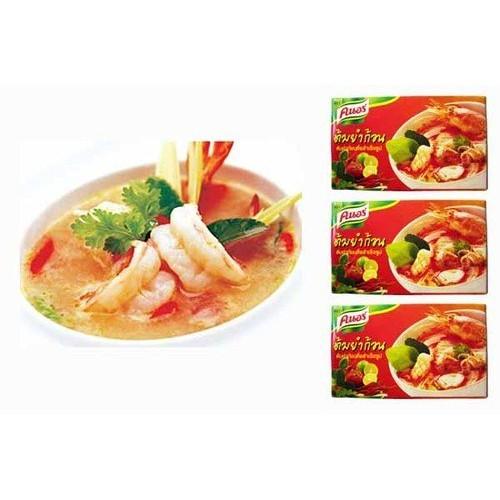 Thai Knorr Tom Yum Seasoning Cubes 24g. Pack of 3