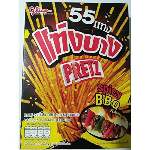 Glico Pretz Spicy BBQ Flavour Bread Stick 37g.