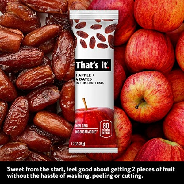Thats it. Apple + Dates 100% Natural Real Fruit Bar, Best High ...