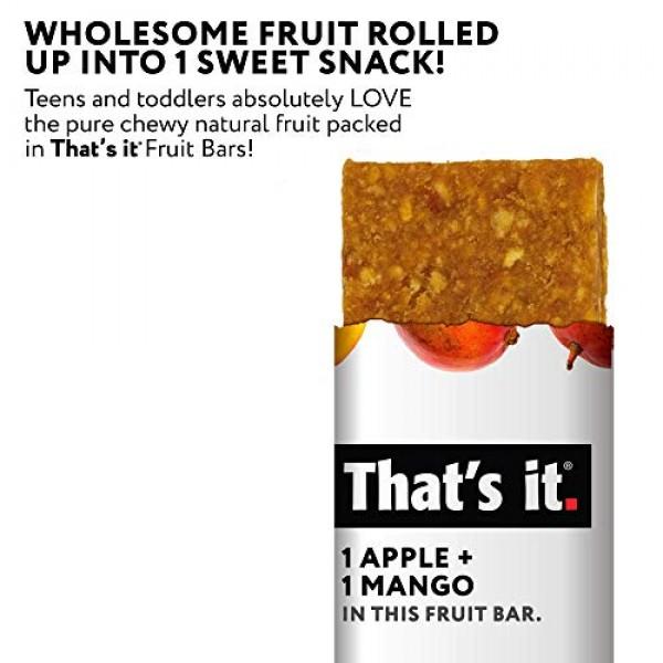Thats it. Apple + Mango 100% Natural Real Fruit Bar, Best High ...