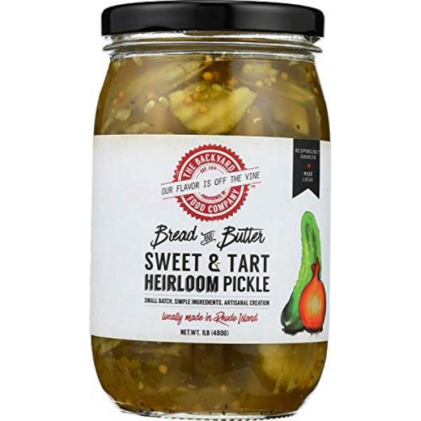 The Backyard Food Company, Heirloom Bread & Butter Pickle, Sweet...
