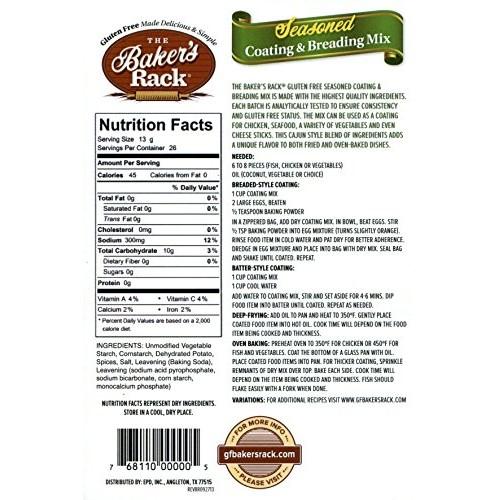 Bakers Rack Gluten Free Seasoned Breading Mix, 12 Ounce