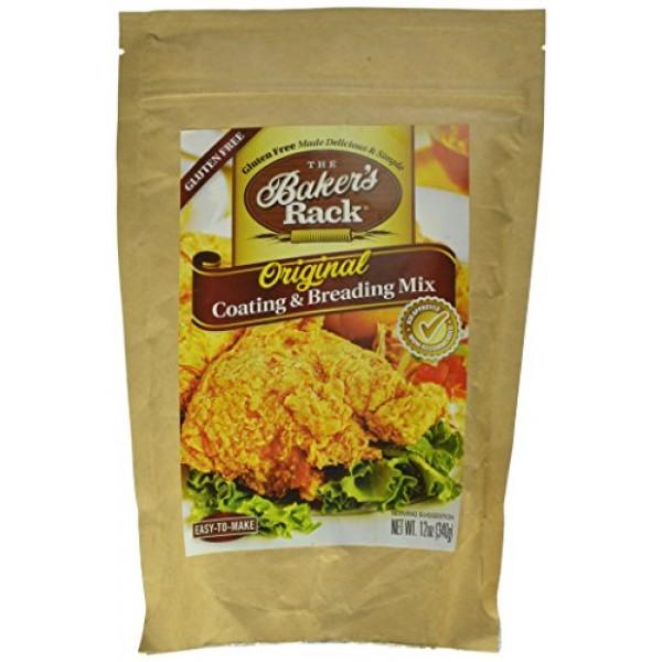 Bakers Rack Gluten Free Original Breading Mix, 12 Ounce