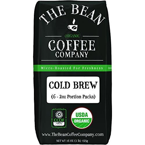 The Bean Coffee Company Organic Cold Brew Packs, Dark Roast, 12 ...