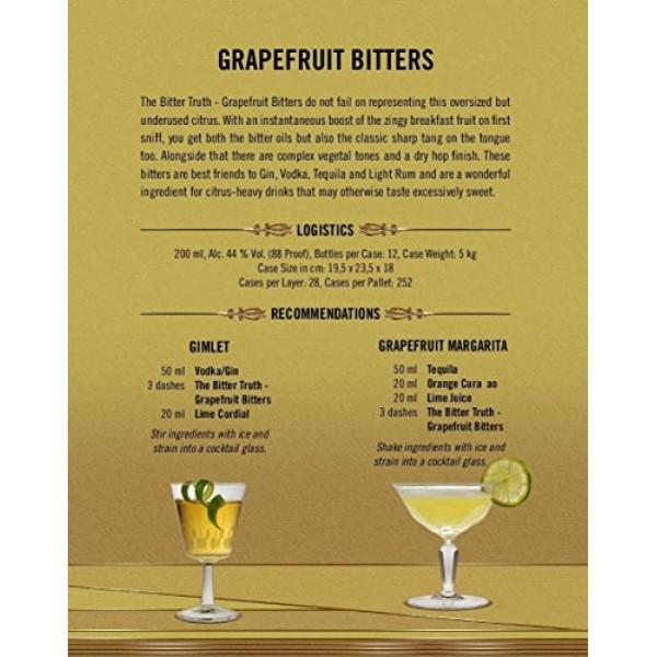 The Bitter Truth Grapefruit Bitters 200ml 6.76oz
