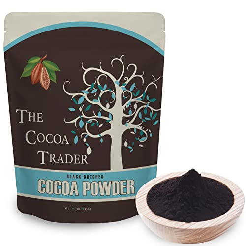 Black Cocoa Powder for Baking- All Natural Alkalized Unsweetened...