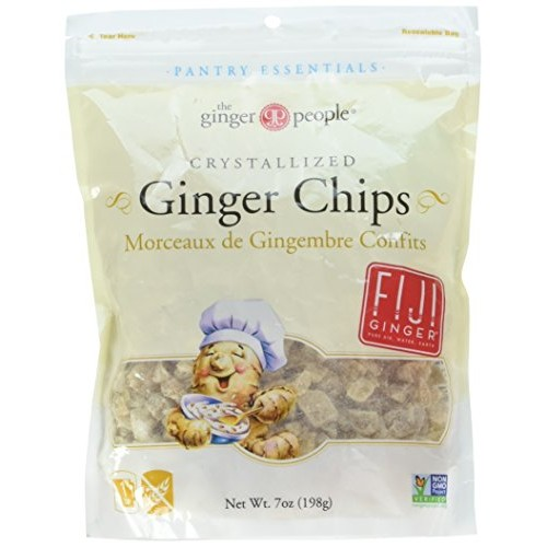 The Ginger People Bakers Cut Crystallized Ginger Chips, 7 Ounce...