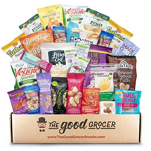 GLUTEN FREE and VEGAN Healthy Snacks Care Package 28 Ct: Plant...