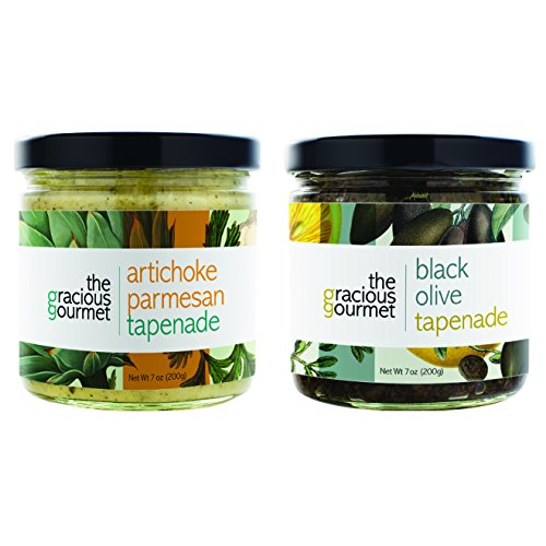 The Gracious Gourmet Tapenade Duo, Black Olive and Artichoke Par...