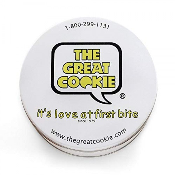 The Great Cookie Cookie Tin Gift with 2lbs of fresh baked cookie...